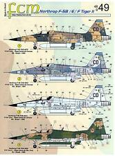 FCM Decals 1/48 NORTHROP F-5B F-5E & F-5F TIGER II Jet Fighter