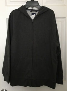 Gap Boys XXL 14 16 Husky Sweatshirt Gray Zip Up Hoodie