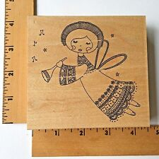 Impression Obsession Rubber Stamp - Angel H10014 - NEW