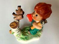 Vintage Hummel Goebel 7957 Charlot Red Head Boy Birdhouse Figurine SCARCE MINT