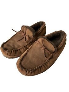 L.L. Bean Wicked Good Slippers Shearling Moccasins Men's size 11 Wide