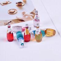 2Pcs Kitchen room drink cup for miniature dollhouse fruit wine beverage bott Yw