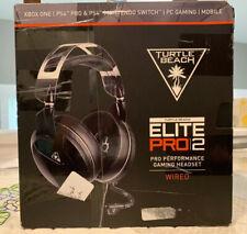 Turtle Beach Elite Pro 2 Pro Performance Gaming Headset Black New No Boom Mic