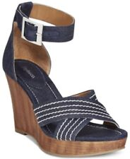 Style & Co. Women's Raynaa Ankle-Strap Platform Wedge Sandals, Blue, Size 9.5 M