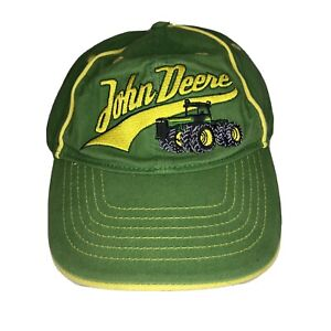 Youth S/M John Deere Tractor Ball Cap Hat W Yellow Stripes