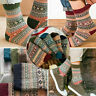 5 Pack Mens Wool Cashmere Socks Lot Design Thick Warm Casual Soft Winter Fashion