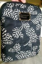 Marc Jacobs Black & Ivory Floral Quilted Nylon Tablet Case, NWOT!