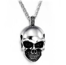 Fashion Men's Punk Skull Head Pendant Choker Chain Hip Hop Necklace Jewelry