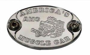 Aluminum Metal Car Badge fits AMC AMX 360 390 401 Engine Fender Hood E6014