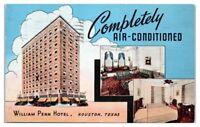 1941 William Penn Hotel, Houston, TX Postcard