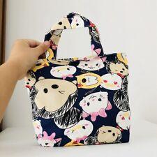 TSUM tsum Marie mickey canvas handbag zip lunch box bag storage tote recycle bag