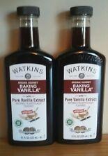 2 JR Watkins Double Strength Baking Vanilla 11 oz each with Pure Vanilla Extract