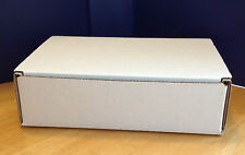 """25pc 5""""x7""""x2"""" Crush Proof Corrugated Shipping Mailer Cardboard Box Boxes White"""