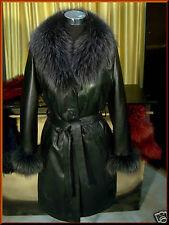 Giacca Giubbino Cappotto in/di pelle pelliccia donna 3