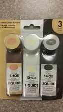 3 Pack LIQUID SHOE POLISH - Brown, Neutral, Black - NEW premium