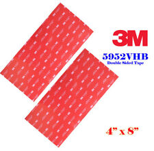 "2 Sheet 3M 4"" x 8""  VHB Double Sided Foam Adhesive Tape 5952 Automotive Mounting"