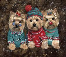 "Precious Pet Garden Flag - Yorkshire Terrier Elves 12"" x 18"" ~ Charity!"