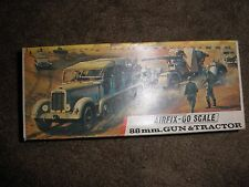 Vintage Airfix -00 Scale 88 Mm Gun And Tractor