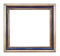 Rahmen / Fotorahmen um 1900, Holz, Polychrome Fassung / Italien (# 12267)