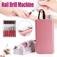 Nail File Drill Rechargeable Electric Nail Art Polish Machine Manicure Tool Kit