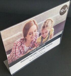Freestanding Borderless Plastic Photo L-Frames 8x10 / 10x8,Select: Type