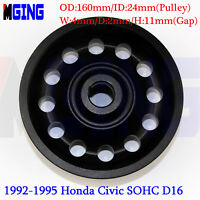 D16 L-Weight Racing Crankshaft Pulley Underdrive For Honda 92-95 Civic SOHC BLAC