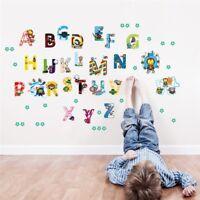 Alphabet ABC Wandsticker Wandtattoo Kinder Aufkleber Buchstaben Wandaufkleber