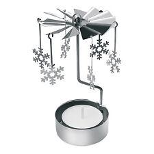 traditionnel Noël rotatif bougeoir pendant Flocons de neige cadeau de Noël