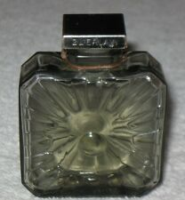 """Vintage Guerlain Vol De Nuit Baccarat Style Perfume Bottle & Stopper 2 1/2"""" Ht"""