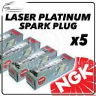 5x NGK SPARK PLUGS Part Number PGR6A Stock No. 4984 New Platinum SPARKPLUGS