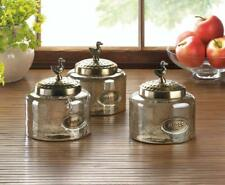 Hammered Glass Kitchen Jar Trio 10017608 SMC Reduced To $34.95 From $44.95 !!!!!
