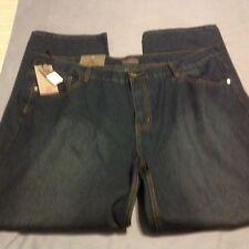 Swiss Cross Herren Blue Jeans 46x32 Big und Tall Straight Leg Fit Pre Preis $54