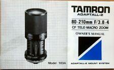 Tamron 103A CF 80-210mm 1:3,8-4 Zoomobjektiv Adaptall-2 Anschluss