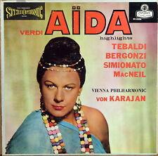LONDON ffss BLUEBACK UK Verdi AIDA Karajan TEBALBI Bergonzi OS-25206 EX+