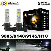 9005 HB3 LED Headlight Bulb High Beam Conversion Kit 6000K White 9145 Fog Light