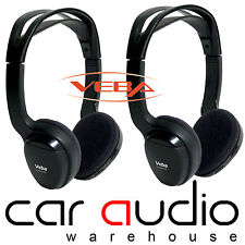 Veba AVHEAD2IR x 2 Dual Channel Infra Red I R Wireless Headphones Sold in Pairs