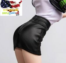 "1/6 leather mini skirt for Phicen Hot Toys 12"" female figure jiaoudoll ❶USA❶"