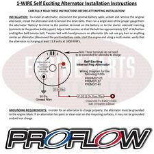 Ford Cleveland V8 302 351 Proflow Black Alternator 140 AMP Internal Regulator