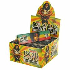 Bob Marley Rolling Paper Pure Hemp Natural Gum 33 Extra Long Leaves 10 Booklets