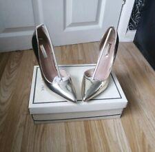 LOST INK Gigi D'Orsay Court Shoe/heels Gold Ladies Size 4