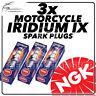 3x NGK Iridium IX Spark Plugs for LAVERDA 1000cc 1000EC, 3C(E), 2CL 76->82 #5044