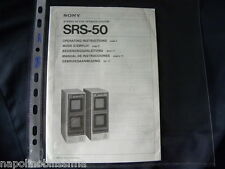 Sony SRS -50  Mode d'emploi Owner's manual Operating Instructions