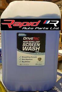 DriveTec Rain Repellant Screen Wash  25 LTR Concentrated screen wash Free Post