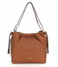Michael Kors Angelina Large Convertible Leather Shoulder Bag (Acorn)