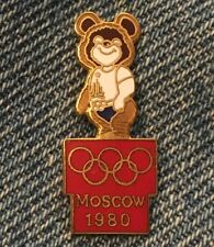 1980 Moscow Olympic Pin ~ Mascot Misha ~ Cloisonné by Gift Creations