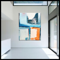CONTEMPORARY ORIGINAL MODERN ABSTRACT CANVAS PAINTING WALL ART.. Libby Emi