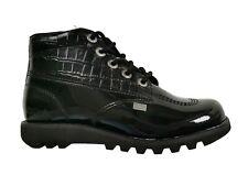 Kickers Girls' Kick Hi Side 1-13512, Black, patent leather, 4 UK / 37 EU