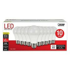 Feit Electric Light Bulbs10 Pack 60W Equivalent A19 Shape LED New