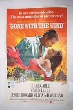 Original 1967-68 Re-Release Gone with the Wind Movie Poster NOT A REPRO.