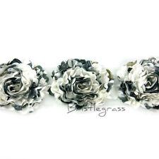 1 Yard 3D White Floral Camellia Satin Flowers Lace Trims Headband Wedding Dress